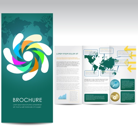 Blue Business Brochure Stock Vector - 16460663