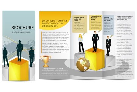 Leadership Training Progress Brochure Template Vector