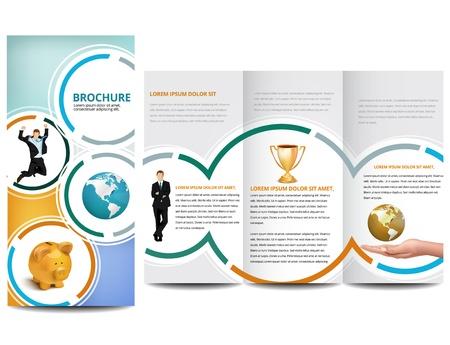 チラシ: サークルのパンフレットのデザイン  イラスト・ベクター素材