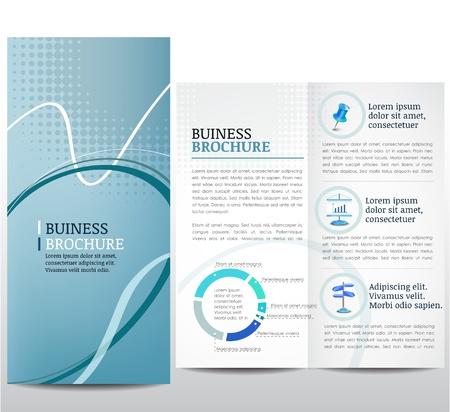 Brochure avec un fond abstrait bleu Illustration