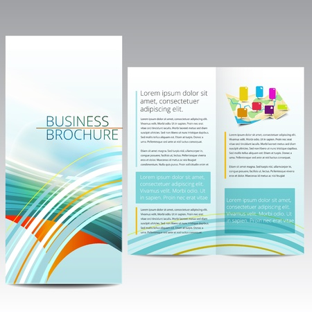 page layout: Brochure design template Illustration