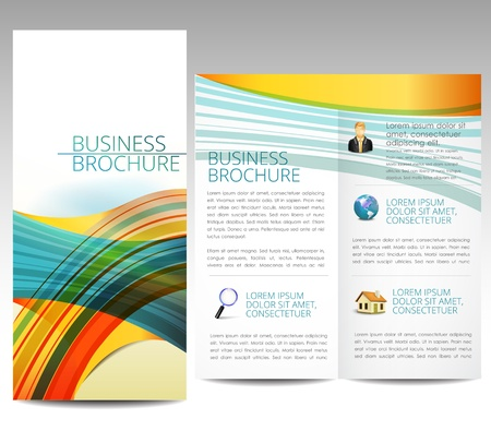 Colorful brochure template Illustration
