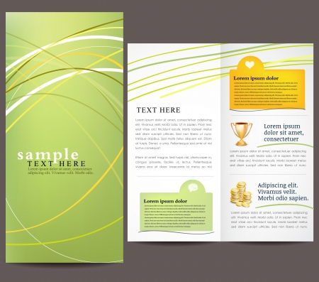 Green brochure template Stock Vector - 16659754