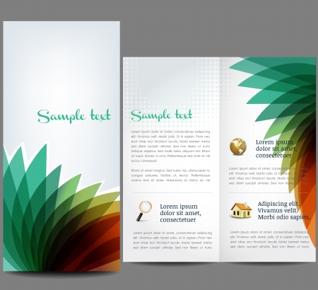 Colorful, abstract brochure Vector