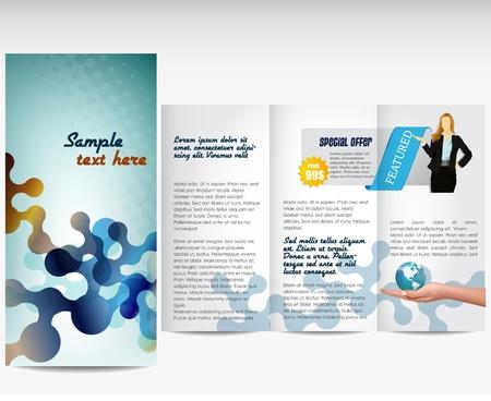 catalog: Plantilla de profesionales o folleto corporativo Vectores