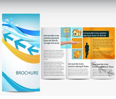 Blue business brochure Illustration