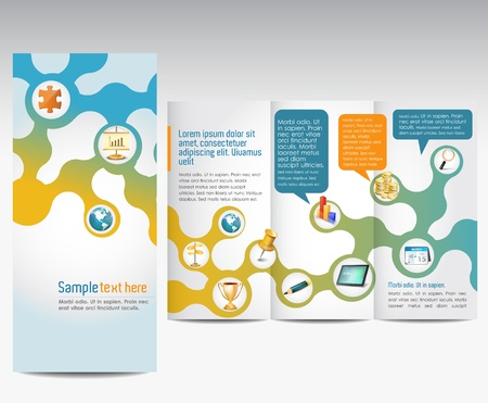puzzle globe: Templates for advertising brochure Illustration