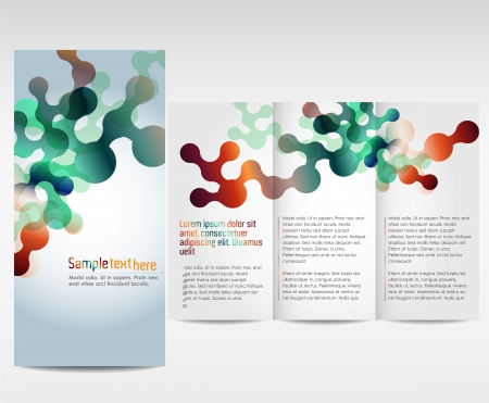 Unique colorful template for advertising brochure