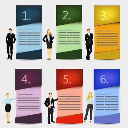 six web website: business presentation boxes