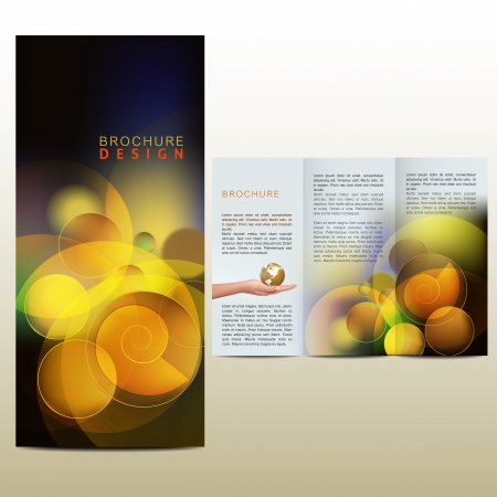 Vector Abstract brochure, layout design template Illustration