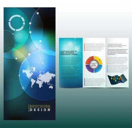 Blue business Broschüre Vorlage