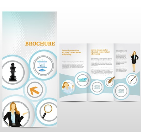 tri fold: Blue business template