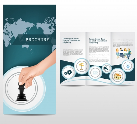 tri fold: Business brochure template