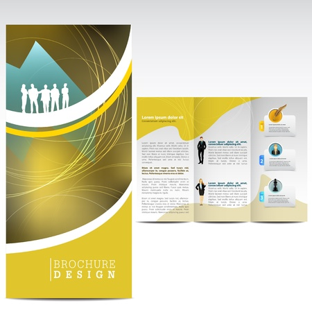 Abstarct brochure d'affaires