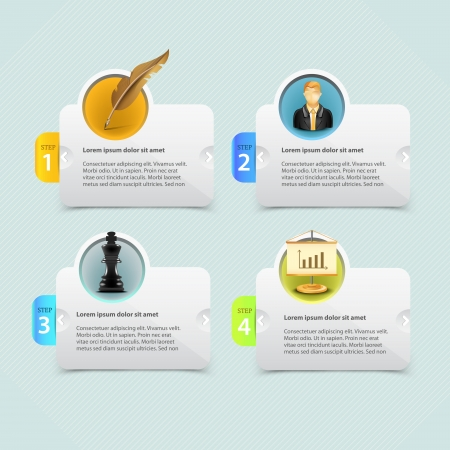 old items: Web banner template design with icon