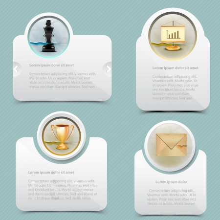 message box: Web banner template design Illustration