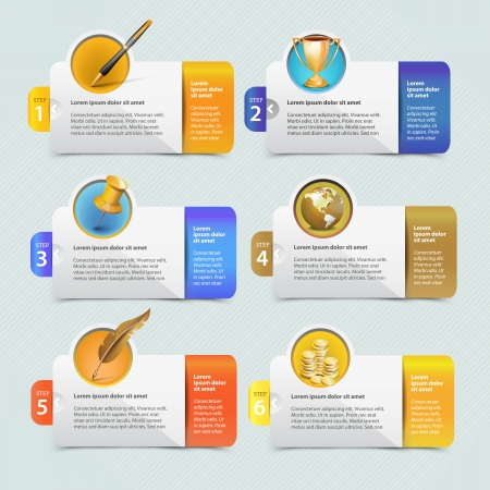 circle chart: Web banner template design with icon set