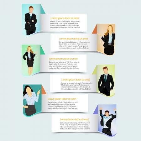 Web design modello striscione con uomini d'affari Vettoriali