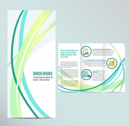 web layout: Blue Brochure Template