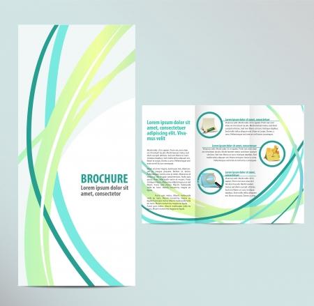 folleto: Plantilla Folleto Azul