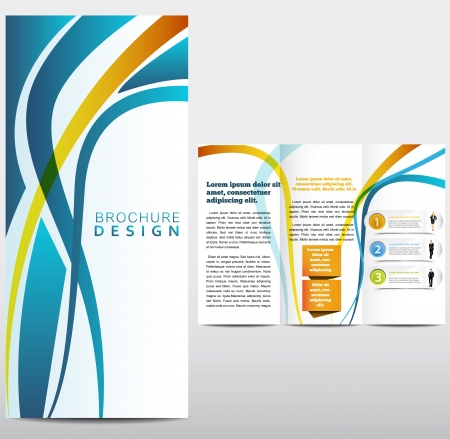 page layout: Vector Brochure Layout Design Template