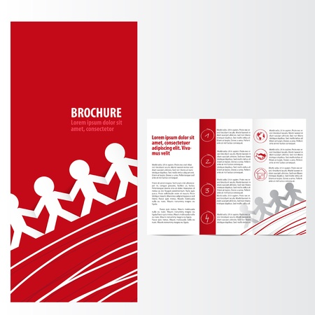 Red brochure template Stock Vector - 19017284