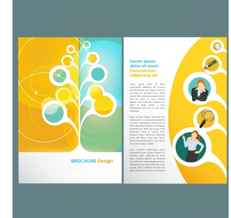 web pages: Template design Illustration