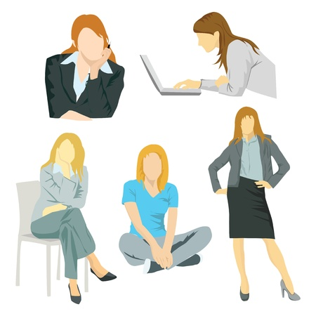 Business women Stock Vector - 20353798