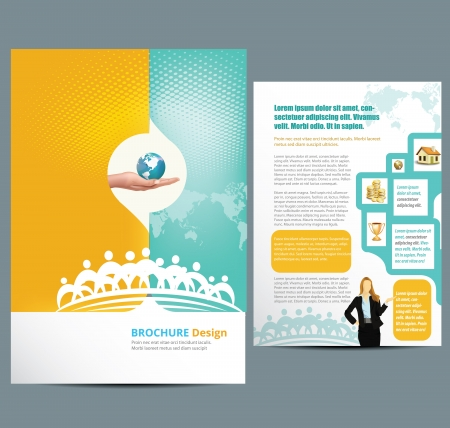 business card layout: Busines Template Layout Illustration
