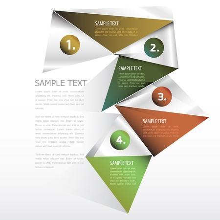 Numbered Template design Vector