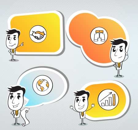 Figures with bubbles speech Vector