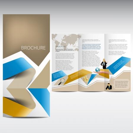 チラシ: パンフレットのデザイン  イラスト・ベクター素材