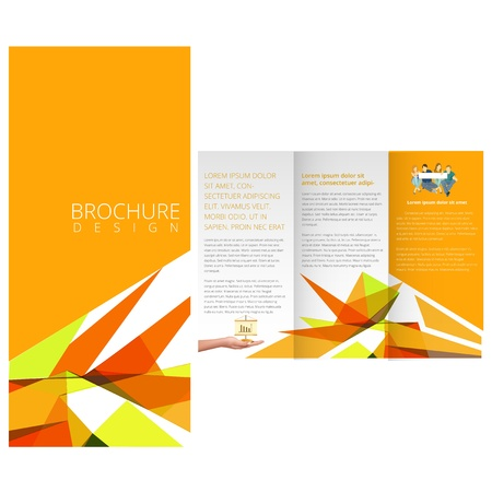 Yellow Colorful brochure Vector