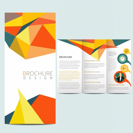 tri fold: Colorfull business brochure, flyer template