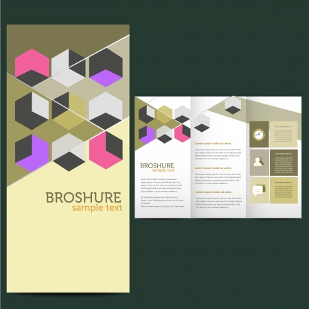 Flat design, brochure template Vector