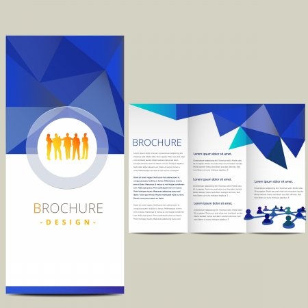 fold: Business brochure, illustration