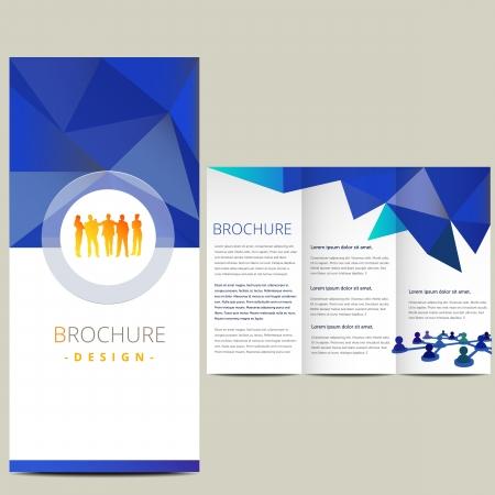 Business-Broschüre, Illustration