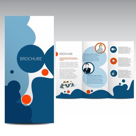 Vector Brosch?re Layout Design Template Illustration