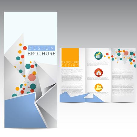 graphisme fond: Mod?le de brochure