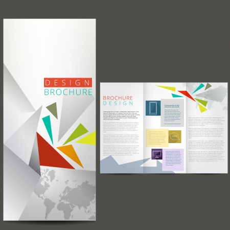 tri fold: Business brochure, template