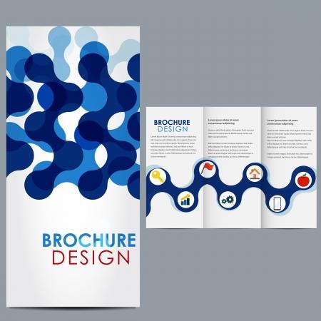Vector brochure template Illustration