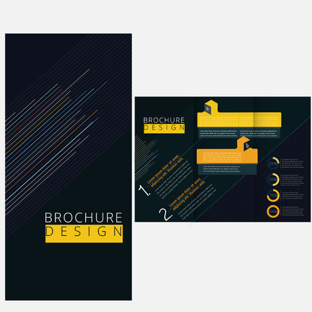 Minimal brochure template Vector