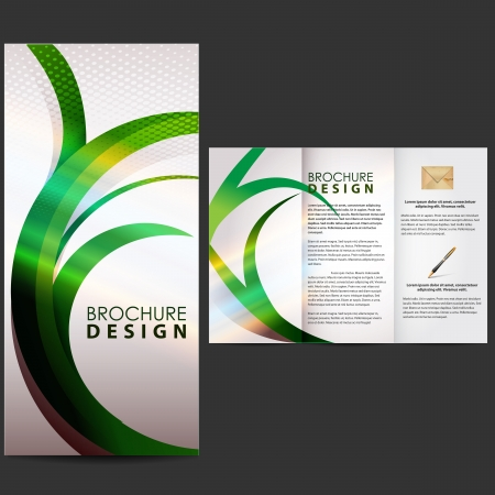 folleto: Folleto con el elemento de la naturaleza Vectores