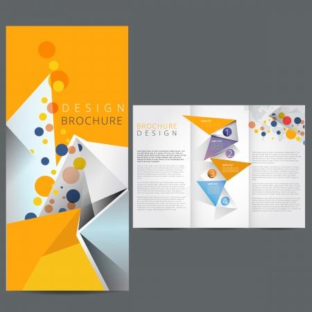 Geel Business-brochure Stock Illustratie