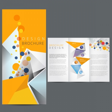 tri fold: Yellow Business brochure