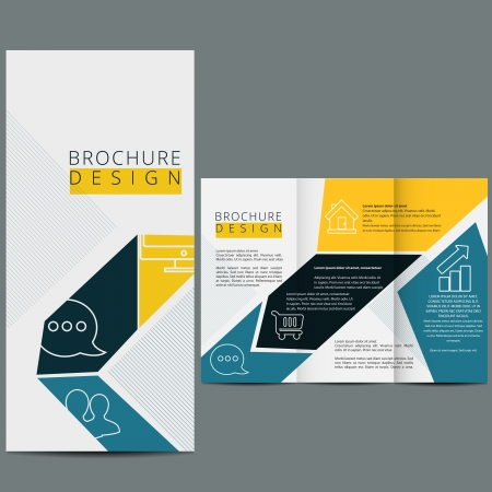brochure template: Business template design