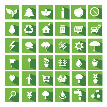 Ecology and recycle flat icons Vector