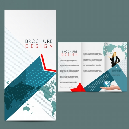 fold: Blue Business Brochure Layout