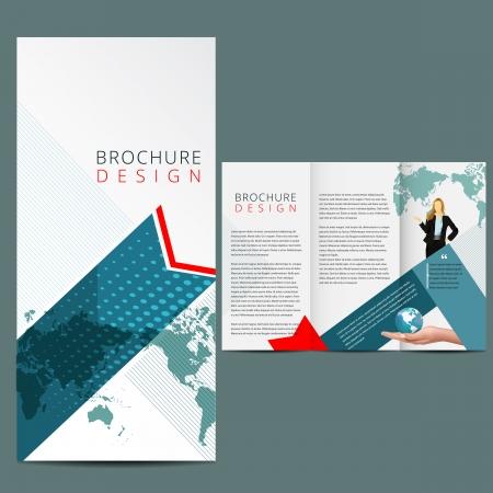 newsletter template: Blue Business Brochure Layout