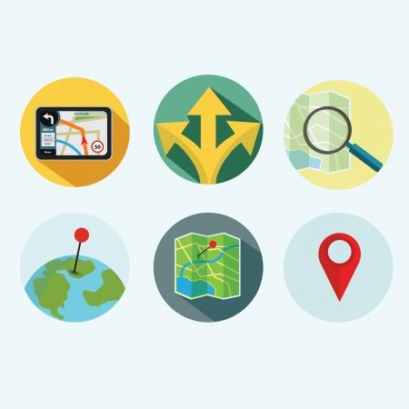 global positioning system: Navigation ico set